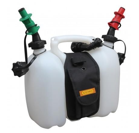 """Dvojitý kanister """"Profi"""" 6l/3l, benzín / olej"""