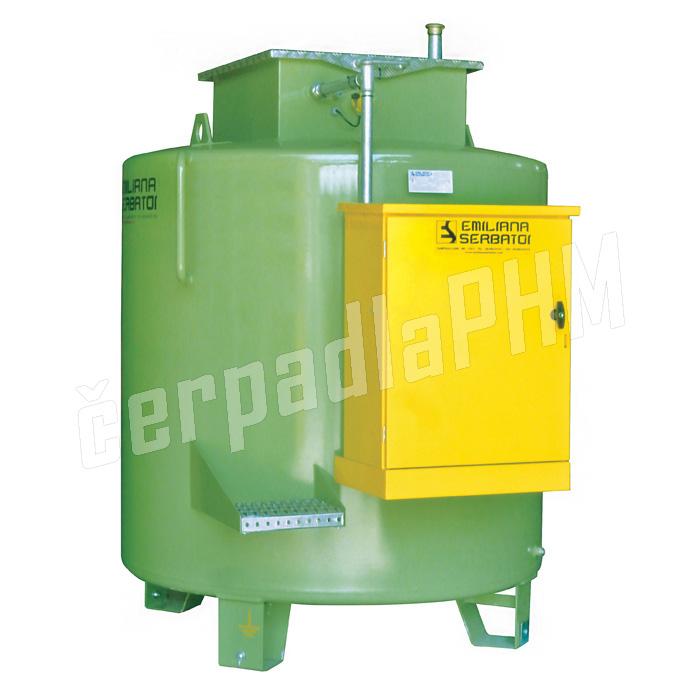 Dvojplášťová nádrž na naftu ES - stojatá /1300 - 9000 litrov/