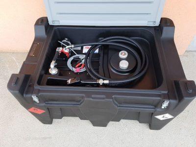 Mobilná nádrž na naftu 440 litrov, 12V bez veka