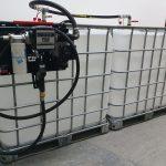 Zostava 2 ks prepojených nádrží IBC 600 litrov+ výdajná zostava Panther 60l/min - 230V