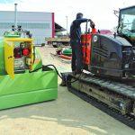 Jednoplášťová ležatá nádrž so záchytnou nádržou 110% objemu 1300-20000 litrov