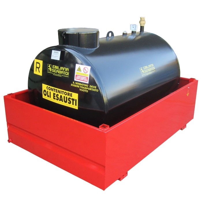 Oceľová nádrž na použité oleje 1300 -9000 litrov
