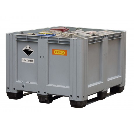 Plastový box s UN kódom, kapacita 610 litrov