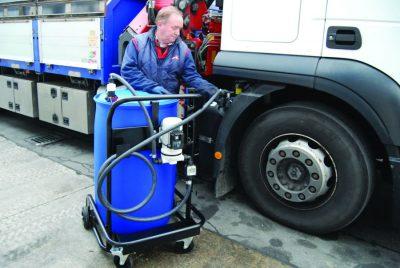 CAR SERVIS vozík pre AdBlue, výdajná profi pištoľ ZVA