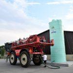 Agrimaster - jednoplášťová nádrž na DAM 28000 litrov, 2″ výpustné a 2″ plniace potrubie v pracovnej výške