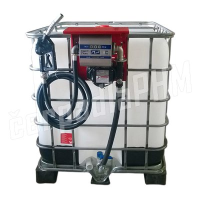 Nádrž IBC 1000 litr. + výdajná zostava HITECH 60l/min - 230V