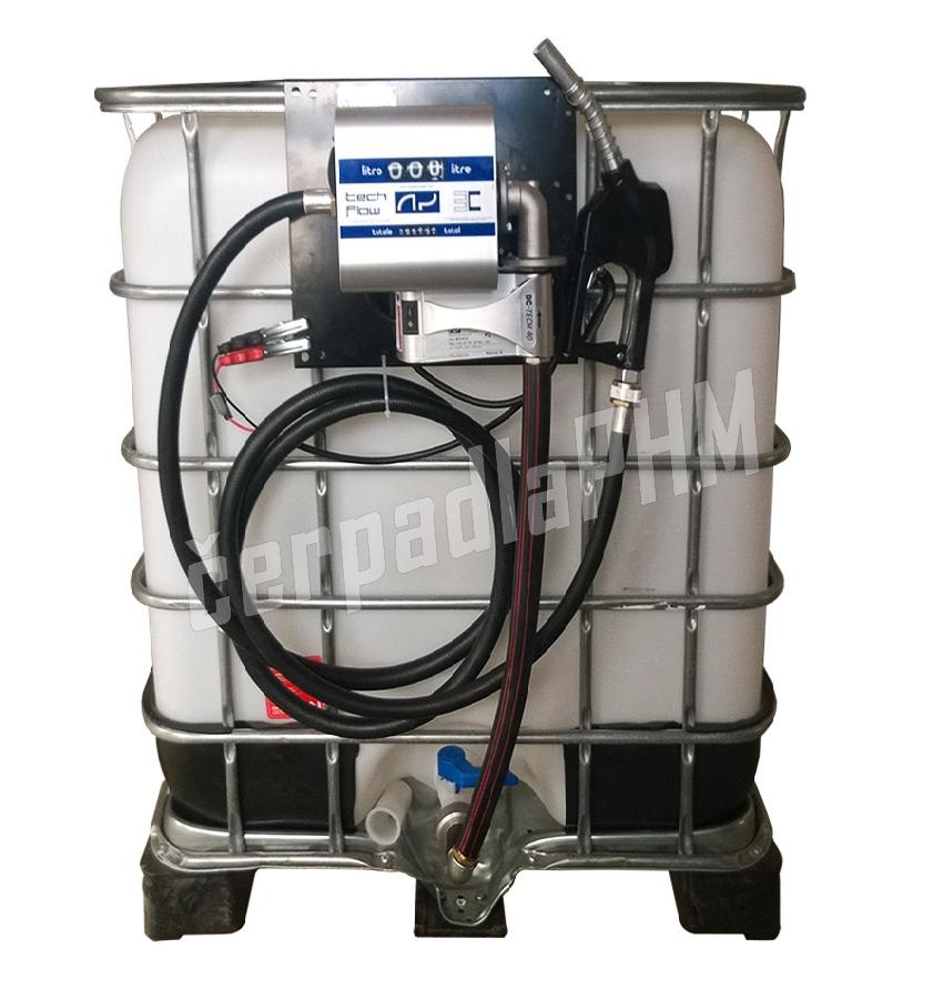 Nádrž IBC 600 litrov + výdajná zostava WALLTECH 40l/min - 24V