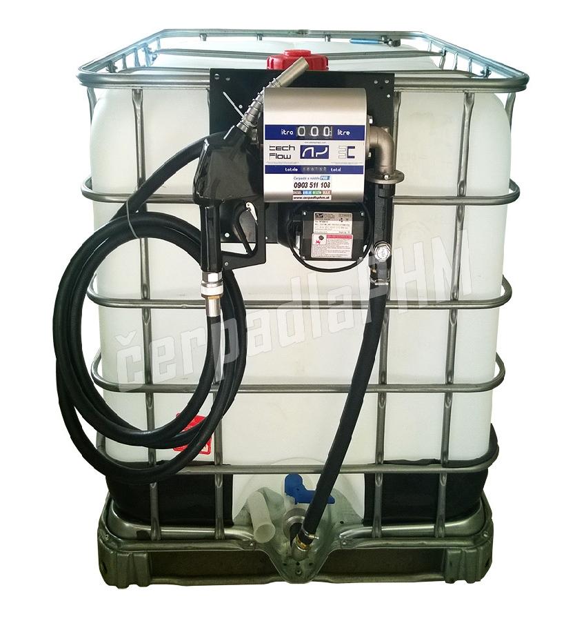 Nádrž IBC 1000 litr. + výdajná zostava WALLTECH 80l/min - 230V