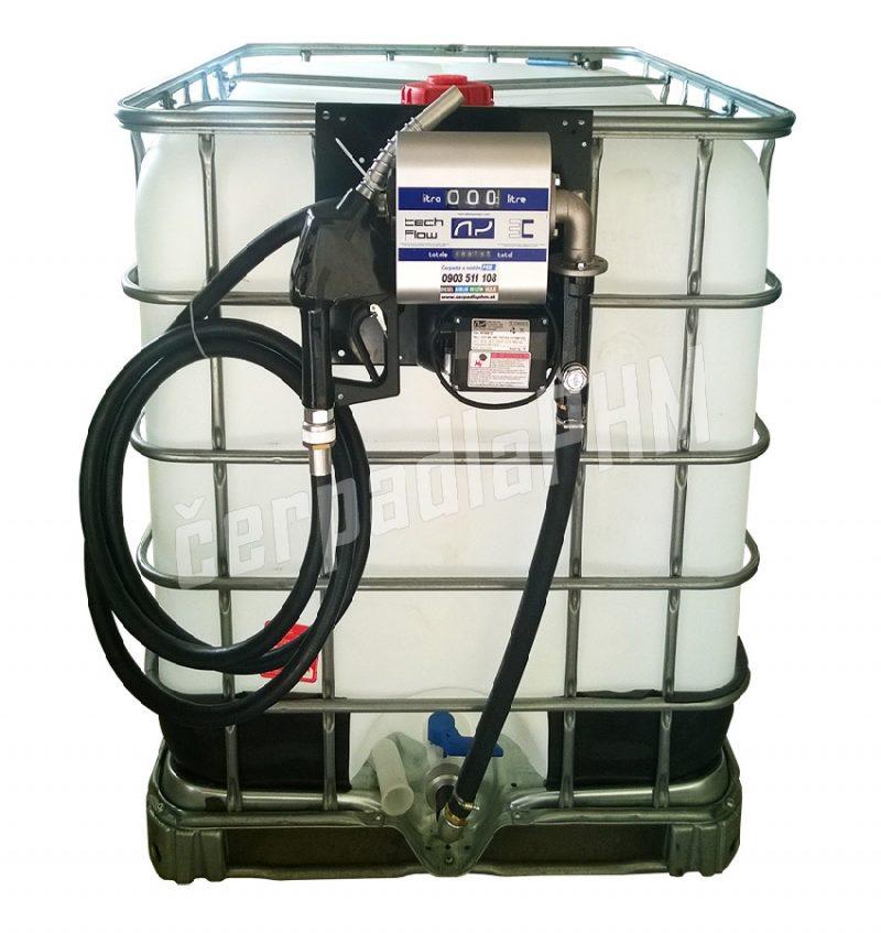 Nádrž IBC 600 litrov + výdajná zostava WALLTECH 60l/min - 230V