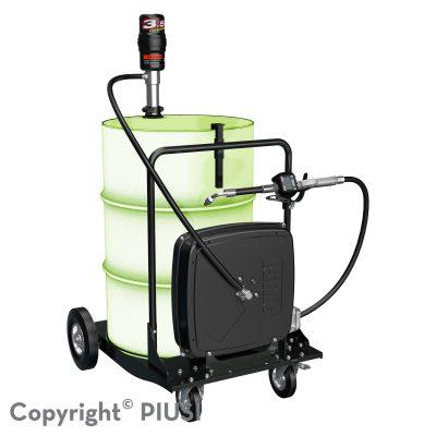 OIL CART KIT pneumatická zostava na olej 3.5 : 1 s meračom a krytým navíjačom hadice