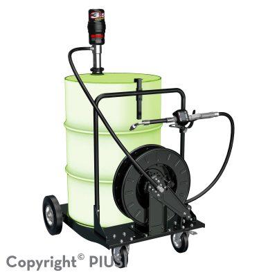 OIL CART KIT pneumatická zostava na olej 3.5 : 1 s meračom a navíjačom hadice