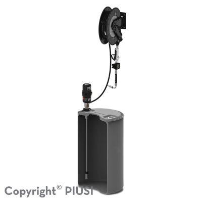 DRUM KIT - pneumatická zostava na olej 3.5 : 1 s meračom a navíjačom hadice