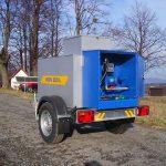 Prívesný vozík s nádržou 850 litrov NAFTA