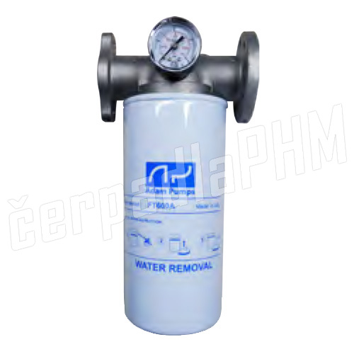 Filter s vodným separátorom 25Mic - 60l/min + manometer
