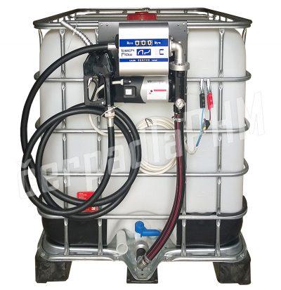 Nádrž IBC 600 litrov+ výdajná zostava WALLTECH 60l/min - 12V