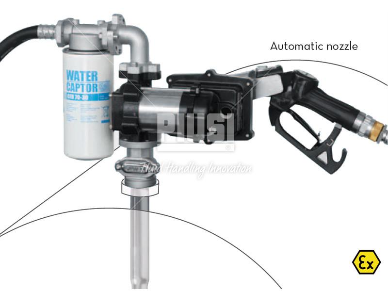 Sudová zostava na benzín PIUSI DRUM EX50 bez prietokomera 12V